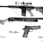 5×7 three gun